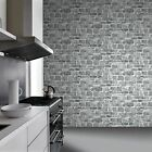 GREY STONE WALL WALLPAPER - RASCH 265620 - NEW FEATURE WALL BRICK