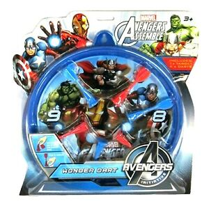 Marvel-Avengers-Assemble-Soft-Dart-Throwing-Board-Game-Set-with-Target-6-Darts