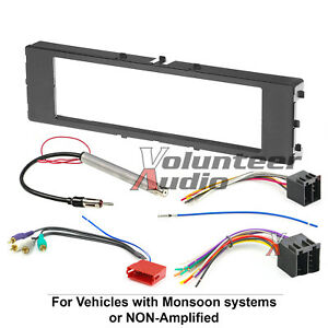 Harness Car Radio Stereo CD Player Dash Install Mounting Trim Bezel Panel Kit
