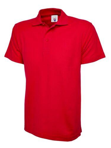 6XL Sport Work Leisure Wear New Mens /& Womens Active Pique Polo Shirt Size XS