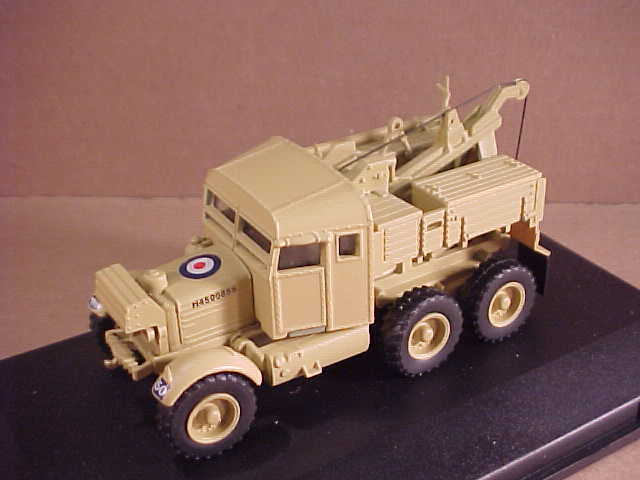 Oxford 1/76 Diecast Scammell Pioneer Recovery Vehicle Brit 1st Armoured #76SP007