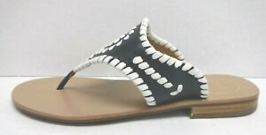 Jack Rogers Size 5 Blue Leather Sandals New Womens Shoes