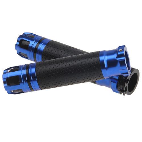 """Blue Motorcycle 7//8/"""" CNC Handlebar Hand Grips For Honda Yamaha Suzuki Kawasaki"""