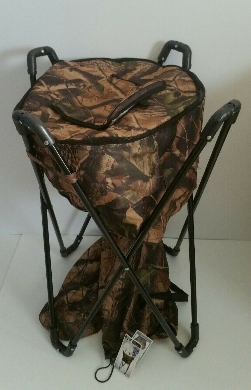 Tub Cooler Drink Holder Camo w  Stand and Carry Bag