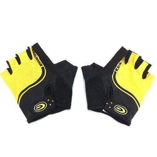 Yellow x Black EXUSTAR E-CG320 Bike Bicycle Half-Finger Gloves