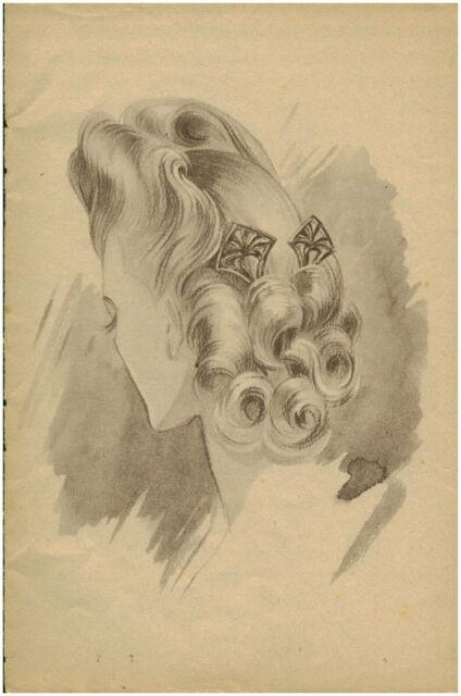 Publicité ancienne Portrait Femme Coiffure Mode  Année 40 ( P 29 ) No 8