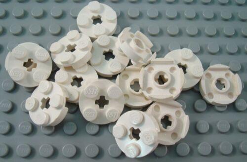 LEGO Lot of 15 White 2x2 Round Plates