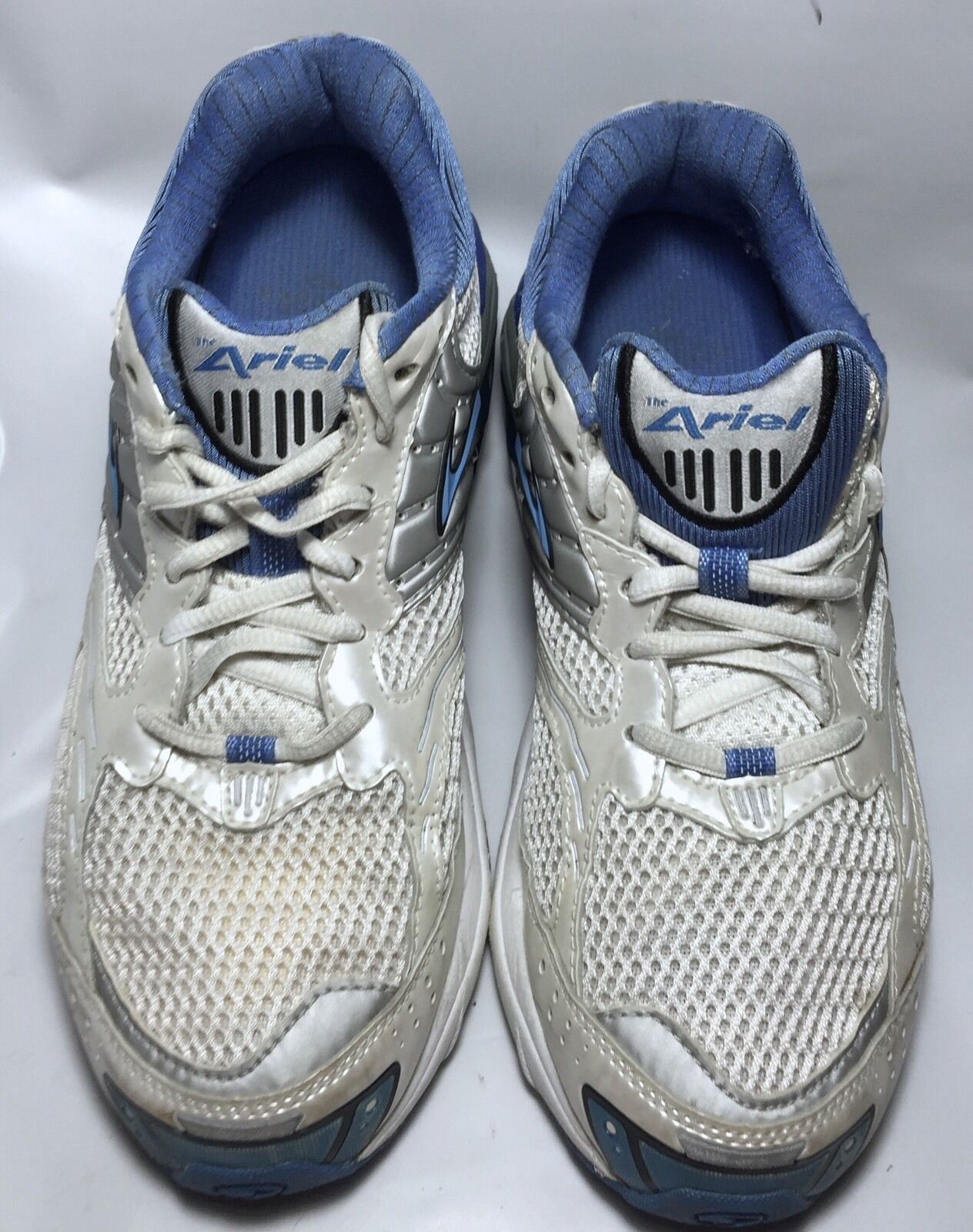Brooks Ariel Running Cross Training shoes Sneakers White And bluee Size 8