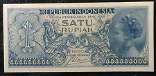 1956  Indonesia Satu rupiah   paperbanknote very nice! Unc