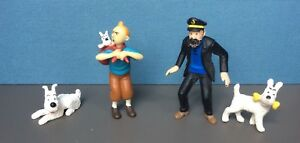 Lot-4-figurines-Tintin-et-Milou