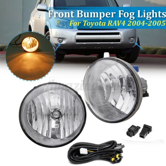 Front Bumper Fog Light Lamp Harness Wire Kit For Toyota