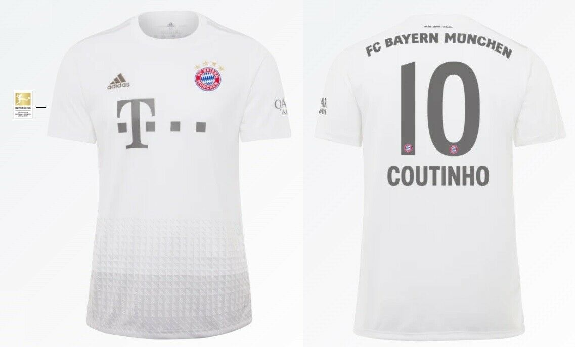 Trikot Adidas FC Bayern 2019 2020 Away BL Coutinho 10 [128