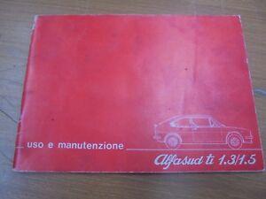 ALFA-ROMEO-ALFASUD-TI-1-SERIE-FOLLETO-DE-USO-Y-MANTENIMIENTO-ORIGINAL