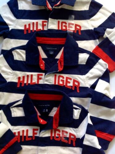 Tommy Hilfiger  Baby Boys  Polo Shirt  Striped Rugby Top 6-9,9-12m 100/% Genuine