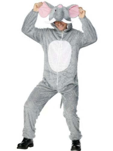 Adult/'s Elephant Costume Zoo Animal Fancy Dress Ladies Mens Funny Outfit