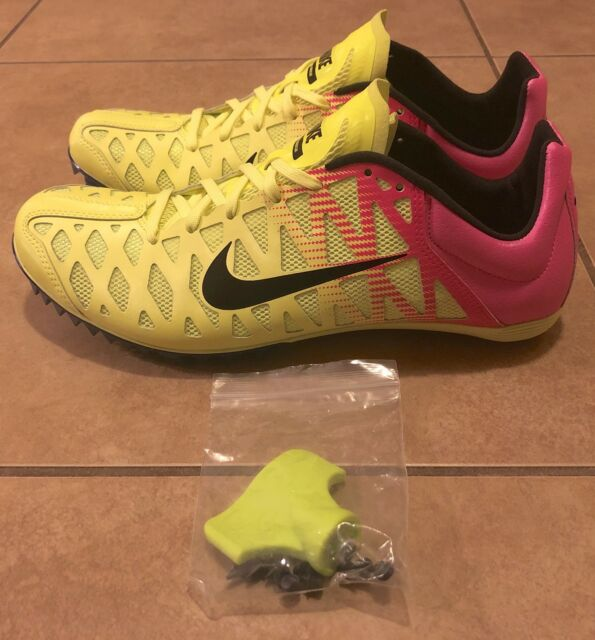 b8931364bda7 Nike Mens Zoom Maxcat 4 Sprint Track Field Spikes Volt Pink 549150-999 Size  11 for sale online
