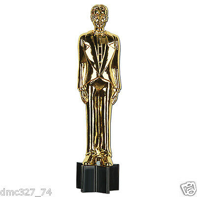 HOLLYWOOD Awards Movie Night Party Decoration Paper Cutout Male Statuette 36 in