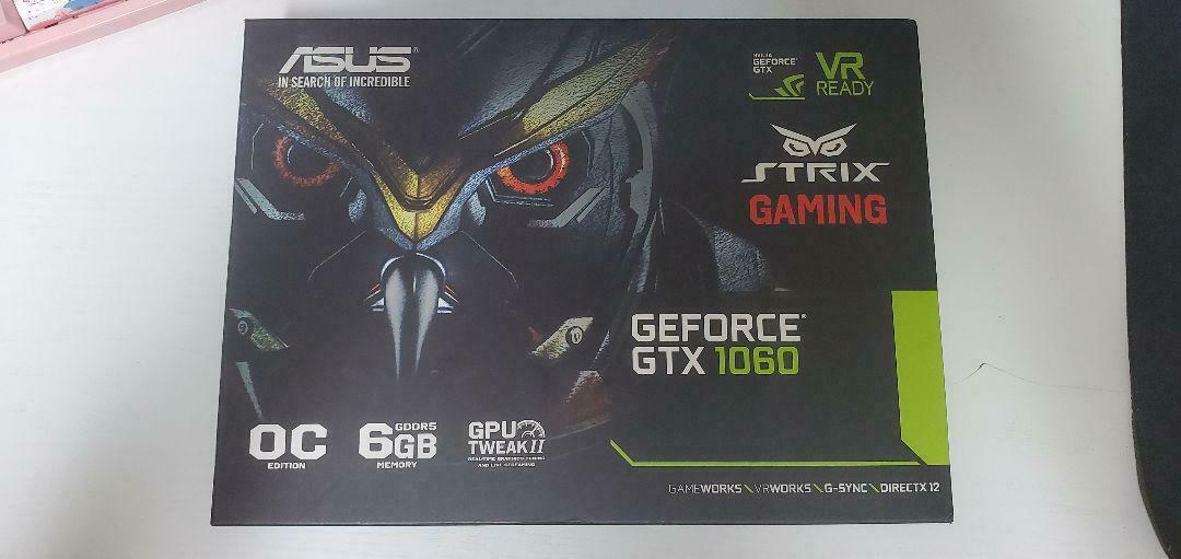 ASUS Strix Gaming GeForce GTX 1060 Overclocked Edition 6GB STRIX-GTX1060-DC2O6G