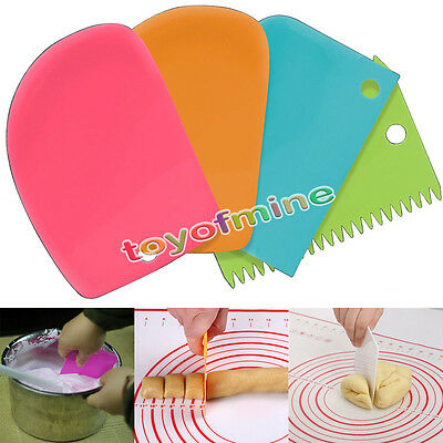 3Pcs Pastry Butter Dough Cake Cookie Scraper Decorating Cutter DIY Tools MT