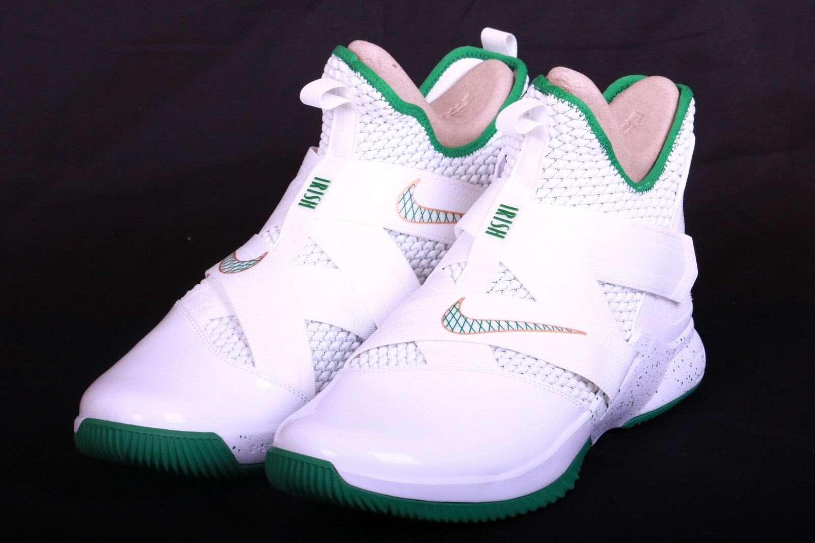 Nike Mens Lebron Soldier XII 12 SVSM Home White Green gold AO2609 100 Size 13