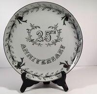 Lefton China 25 Th Silver Anniversary Plate10 Diameter Wedding Gift Bells