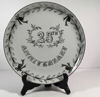 Lefton China 25 Th Silver Anniversary Plate10 Diameter Wedding Gift Bells