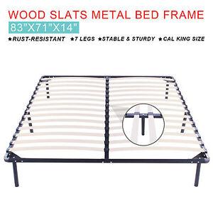 Cal King Size 83X71X147 LEGS Metal Bed Frame Mattress