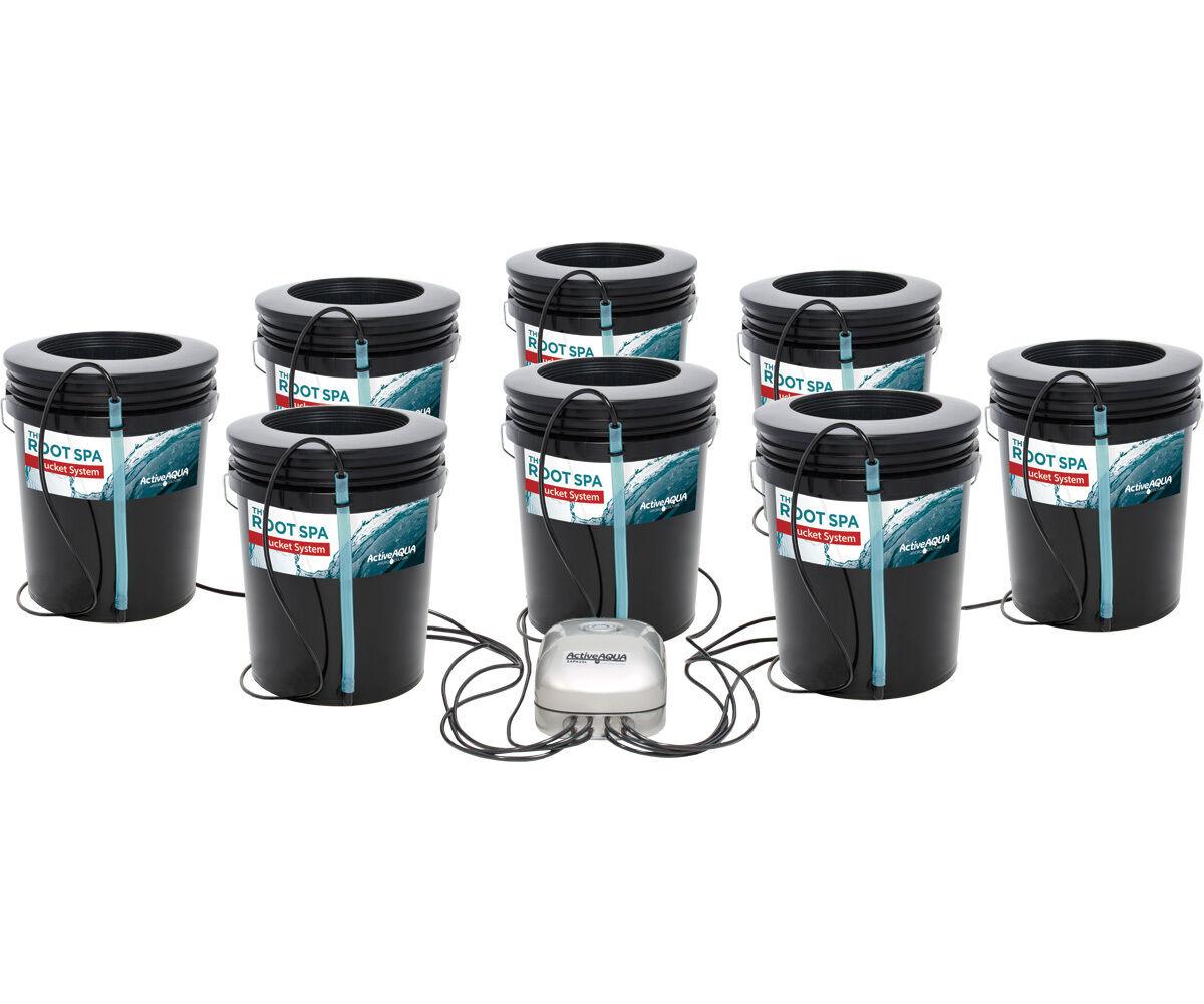 Active Aqua 8 sitio Root Spa 5 GAL cubo sistema Hidroponía ahorrar con Bay Hydro
