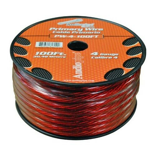 Audiopipe PW4100RD Power Wire 4Ga 100/' Red