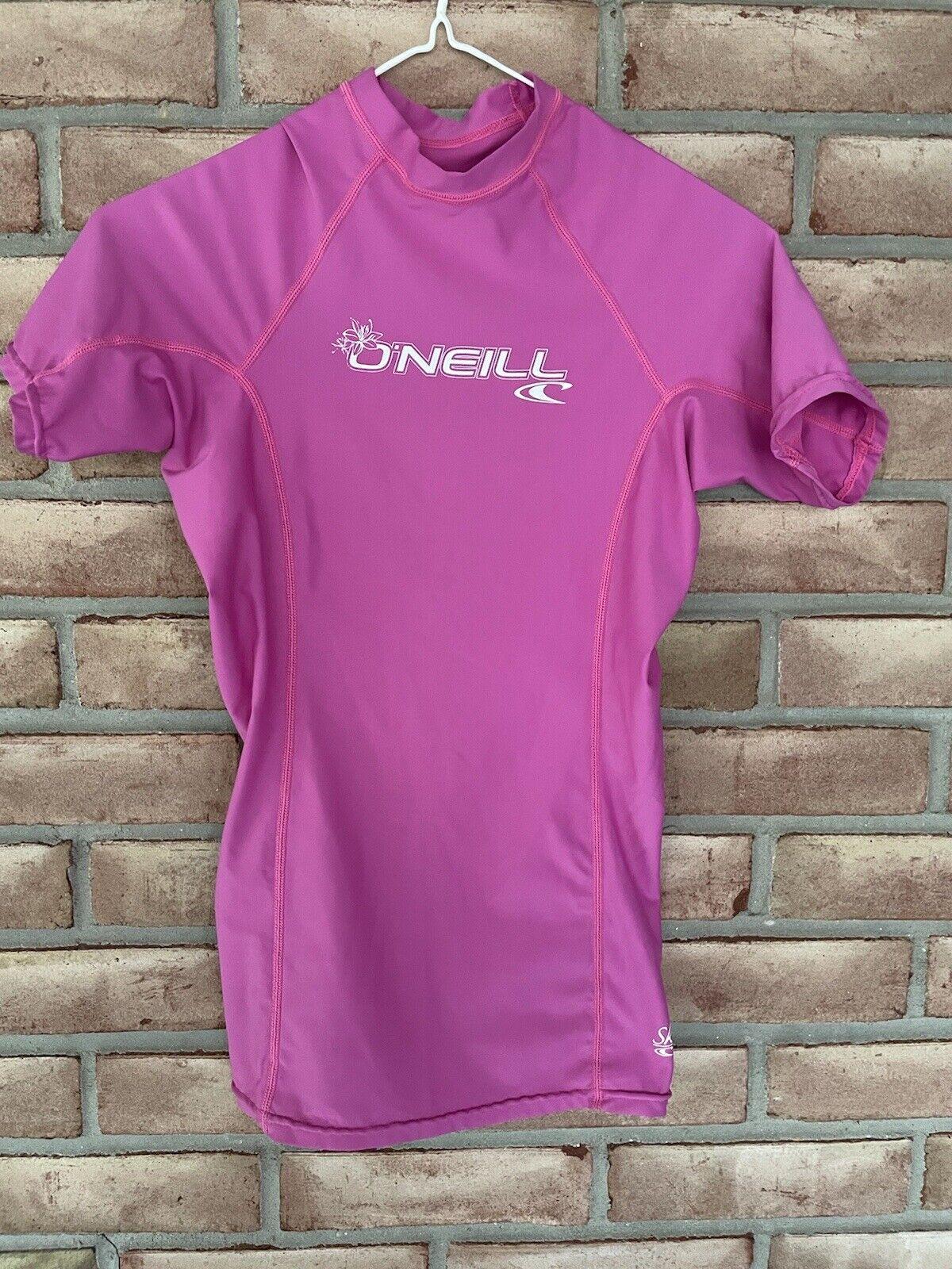 O'Neill SKINS SPF 50+ Women's Size XS Pink Short Sleeve Top Sun Protect Sport