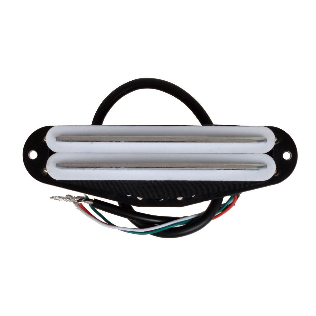 electric guitar dual hot rail humbucker blade single coil pickup white 634458639675 ebay. Black Bedroom Furniture Sets. Home Design Ideas