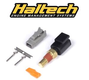 Details about Haltech Oil Temp Sensor -small thread 1/8 th NPT with plug  and pins