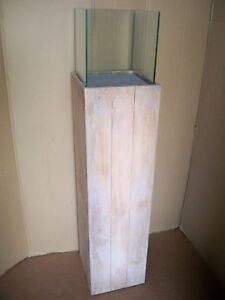 Bodenwindlicht Woody Saule Aus Recyclingholz Glas Gross Unikat 120 Cm