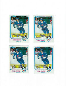 Lot-2-1981-82-Topps-Peter-Stastny-Rookie-Quebec-Nordiques-NM