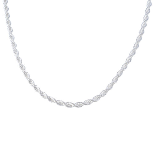 GIFT Silver Plated Chain Necklace For Jewelry 4mm 16//18//20//22//24//26//28//30 inch