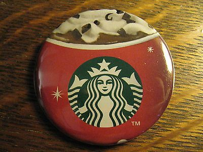Starbucks Coffee Cafe Holiday Mocha Mermaid Logo Advertisement Lapel Button Pin