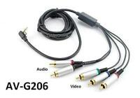 6ft Premium 5-rca Component A/v Cable For Sony Slim Psp 2000 3000, Av-g206