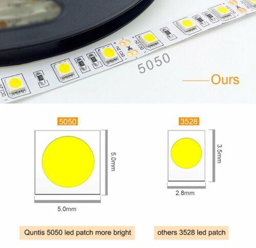 Led Streifen Stripe RGB Warmweiß Band Leiste 5050 3528 Mehrfabig Lichtband 12V