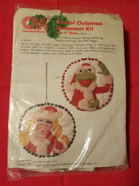 Kermit the Frog Miss Piggy Muppets Embroidery Christmas ...