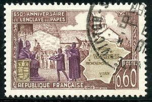 Timbre France Oblitere N° 1562 Enclave Papale De Valreas Stamp France
