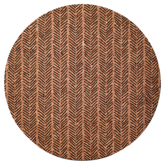 Pack of 4 Round Typhoon Monochrome Natural Cork Table Placemats Tableware New