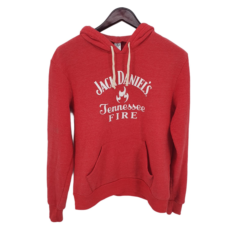 Jack Daniels Tennessee Fire Pullover Hoodie Pink Mens Medium
