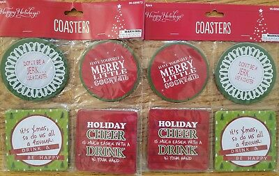 Christmas paper coasters set of 8 Holiday coasters paper coasters - Christmas coasters
