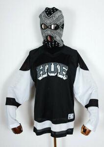 Huf Worldwide Skateboard T-Shirt Woven Hemd Longsleeve Fulton Jersey Black in M
