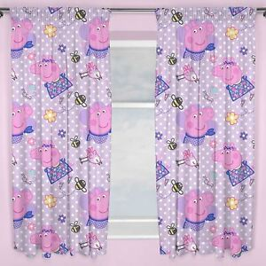 Peppa-Pig-Happy-Pleated-Readymade-Curtains-54-034-or-72-034-Drop-Matches-Bedding