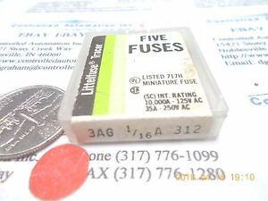 Littelfuse-3AG-1-16A-312-Fuse-Fuses-Lot-of-5