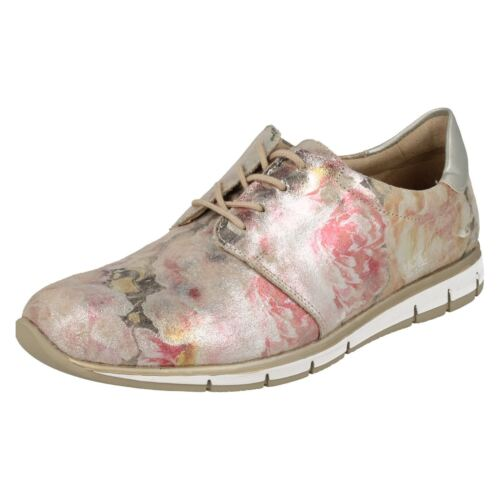 Ladies stringate Remonte pelle R4010 floreali Scarpe multicolor in Multi 1SOSq