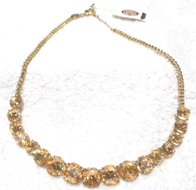Fossil Gold and Peach Stone Necklace