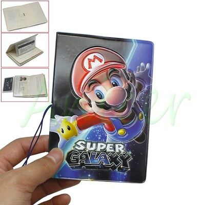Cute Mario Identity Card Passport Holder Protect Cover CASE For Travel Journey