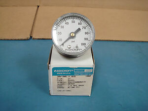 Ashcroft-20W1005H02B-Used-2-034-Pressure-Gauge